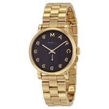 marc jacobs watches jomashop marc by marc jacobs baker dexter black dial gold tone ladies watch