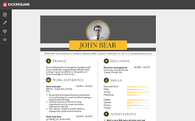 To Create A Resumes Kickresume Create A Professional Resume In Minutes And Get Hired