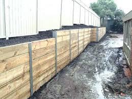 timber retaining wall design timber retaining wall design steel posts timber sleeper retaining timber retaining wall