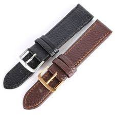 replacement leather watch strap genuine leather watch band solid strap men women watchband replacement 6size uk
