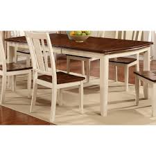 White \u0026 Cherry Dining Table - Dover Collection | RC Willey Furniture Store