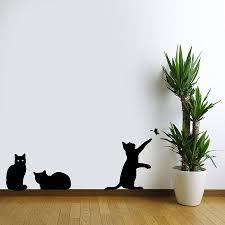 black cat wall decals