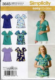 Scrub Top Patterns Unique Medical Scrub Tops Pattern With Maternity Scrub Top Option In