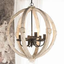 distressed white wood orb chandelier transform distressed white wood orb chandelier picture