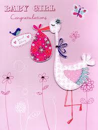 Baby Girl Congratulations Gigantic Greeting Card