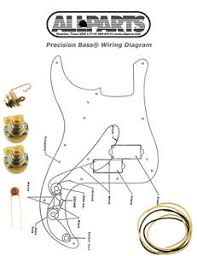 new precision bass pots wire amp wiring kit for fender p bass image is loading new precision bass pots wire amp wiring kit