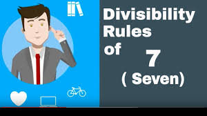 Divisibility Rules Chart For Kids Is A Number Divisible By 7 Divisibilty Rule Of 7