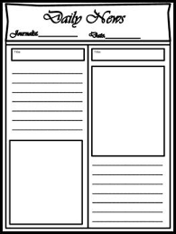 Blank Newspaper Template For Multi Uses Ela Newspaper Writing