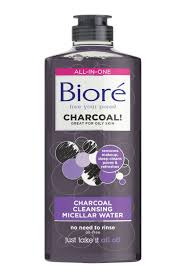 bioré charcoal cleansing micellar water