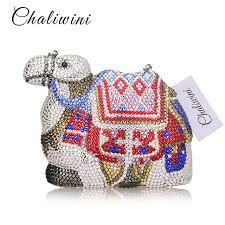 Online Shop <b>Famous Brand Women Crystal</b> Camel Evening Bags ...