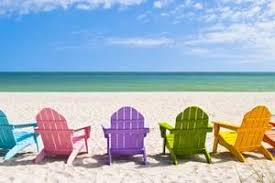 adirondack chairs on beach. Adirondack Beach Chairs On A Sun In Front Of Holiday VacChad McDermott S