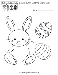 easter bunny coloring worksheet printable index of images worksheets easter on easter worksheets