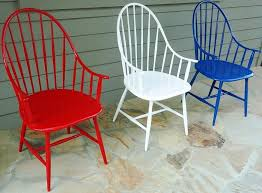 cast aluminum windsor chairs in multiple colors