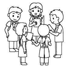 ミーティング1白黒打ち合わせデイサービス通所介護介護医療