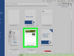 Office Tempaltes How To Add Your Own Pictures And Logo Within Microsoft
