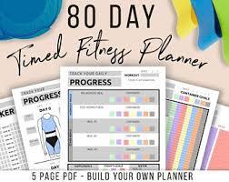 Fitness Planner Etsy