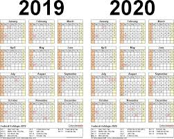 2020 16 Calendar Printable After The Holiday Falls On A Sunday It Is Normally Observed