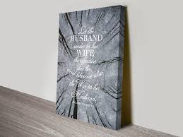 this is an inspirational quotes canvas print it says let the husband render to his wife the affection due her and like wise also the wife to her husband  on wooden wall art quotes australia with the affection pinterest quote canvas inspirational and quote art