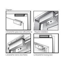 el dd 600 double door magnetic lock 600 lbs holding force for each door