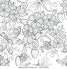 Flower Coloring Pages Butterfly Pattern Flowers Coloring Pages For