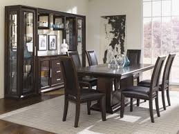 Dining Room Set With China Cabinet Brentwood Mocha By Najarian Del Sol Furniture Najarian