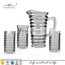 7pcs glass water set fruit infusion pitcher vintage glass beer pitcher