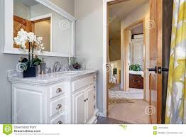 Extended Bathroom Vanity Light Light Bathroom Interior With Gorgeous Bathroom Vanity Stock