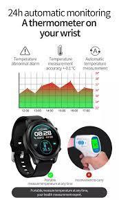 Đồng Hồ Thông Minh Uonevic G21 Tuổi Thọ Pin 7 Ngày Nhiệt độ Cơ Thể  Montoring Thể Thao Kim Loại Nhịp Tim Màn Hình Ngủ IP68 Chống Nước IOS  Android Phiên Bản