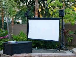 outdoor tv projector and screen wireless