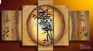 feng shui art for office. 2017 Bamboo Feng Shui Oil Painting Canvas Fortune Decoration Home Office Wall Art Decor Gift Handmade For N