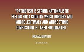 Patriotism is strong nationalistic feeling for a country whose ... via Relatably.com