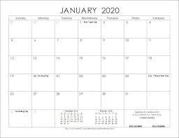 Calendar 2020 Template Free 2020 Calendar Templates And Free Printable 2020 Calendar So