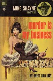 is my business by brett halliday dell 1963 cover art by robert mcginnis