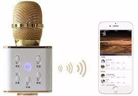 Micro karaoke Bluetooth thế hệ mới kiêm loa Q7 3 trong 1(Trắng)