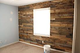 pallet wall faux rock panels inexpensive stone