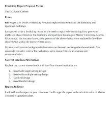 Memo Proposal Format Proposal Memo Template