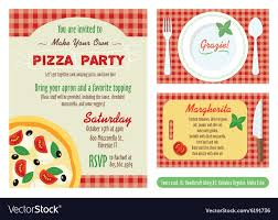 Make Your Invitation Make Your Own Pizza Party Invitation Set