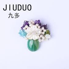 2019 <b>JIUDUO</b> New Elegant Anadem Flower Real <b>Natural</b> Pearl ...