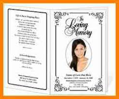9 Free Funeral Programs Templates Quick Askips