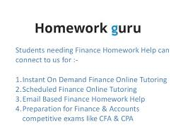 finance homework help 3 students needing finance homework