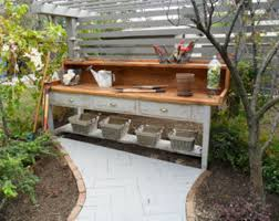 outdoor potting tables with sink