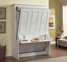 Murphy Bed Furniture 229999 Gabriella Queen Murphy Bed With Desk White D2d