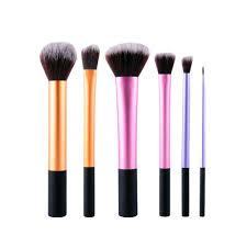 6 pcs makeup brush set professional plete set cosmetic tools kit powder blending brushes for eyeshadow eyeliner lip contour aliexpress