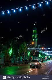 Light Month Light Decorations For Muharram Month On One Of Main Street