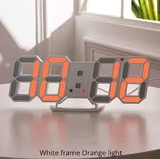 3d led wall clock modern digital wall