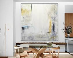 large oil painting original modern abstract art white amber yellow blue oil painting contemporary art interior design wall art sky whitman on blue gray and white wall art with acrylic paintings etsy