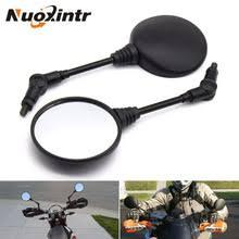 Nuoxintr Black <b>Motorcycle</b> Mirrors Custom Folding Side <b>Universal</b> ...