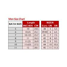 Shoes Size Chart For Men India