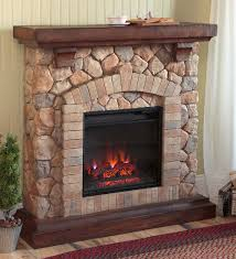 engaging stone electric fireplace stacked quartz heater ventless