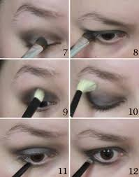 smoky style 1920s eye makeup tutorial